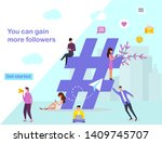 web page design template for... | Shutterstock . vector #1409745707