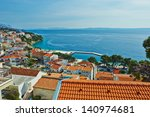 beautiful sea view from the top ...   Shutterstock . vector #140974681