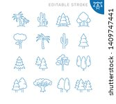 tree related icons. editable... | Shutterstock .eps vector #1409747441