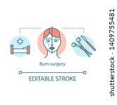 burn surgery concept icon. burn ...   Shutterstock .eps vector #1409755481