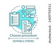 choose procedure concept icon.... | Shutterstock .eps vector #1409755511