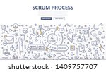 scrum process concept. agile... | Shutterstock .eps vector #1409757707