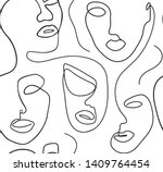 seamless background with women... | Shutterstock .eps vector #1409764454