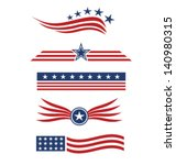 USA star flag design elements vector