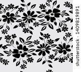 abstract flower seamless... | Shutterstock . vector #1409819891