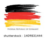 grunge flag of germany. german... | Shutterstock .eps vector #1409831444