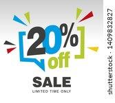 20 Percent Off Sale Modern Blu...