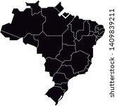 brazil map stylish mapa brasil... | Shutterstock .eps vector #1409839211