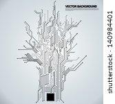 circuit board background texture | Shutterstock .eps vector #140984401