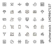 financial services ine icon set....