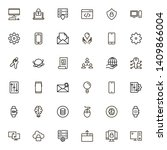line icon set. collection of... | Shutterstock .eps vector #1409866004