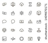 line icon set. collection of... | Shutterstock .eps vector #1409870171