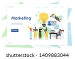 marketing vector website... | Shutterstock .eps vector #1409883044