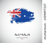 flag of australia with brush...   Shutterstock .eps vector #1409897237