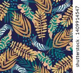 summer seamless pattern with... | Shutterstock .eps vector #1409914547