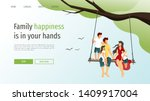 web page template for happy... | Shutterstock .eps vector #1409917004