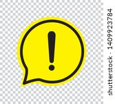 exclamation icon on transparent ... | Shutterstock .eps vector #1409923784