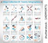 mega collections of ten modern... | Shutterstock .eps vector #140993971