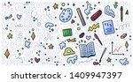 welcome back to school doodle... | Shutterstock .eps vector #1409947397