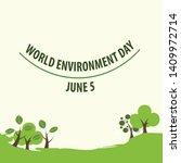world environment day concept.... | Shutterstock .eps vector #1409972714