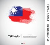 flag of taiwan with brush...   Shutterstock .eps vector #1409974367