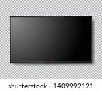 realistic tv screen isolated... | Shutterstock .eps vector #1409992121