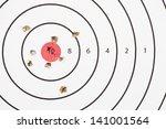 Close Up Of A Shooting Target...