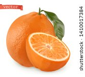 orange. fresh fruit. 3d... | Shutterstock .eps vector #1410017384