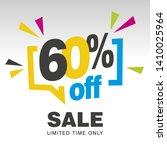 60 percent off sale modern... | Shutterstock .eps vector #1410025964