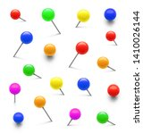 colorful push pins set in... | Shutterstock .eps vector #1410026144