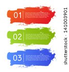 brush strokes infographics... | Shutterstock .eps vector #141003901