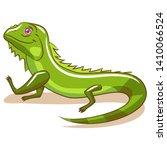 Iguana Vector Cartoon Clipart...