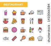 restaurant icon set  filled...   Shutterstock .eps vector #1410066584