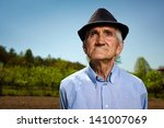 closeup portrait of a senior... | Shutterstock . vector #141007069