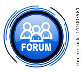 forum circle blue glossy icon    Shutterstock . vector #141007981
