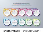 infographic design with 10... | Shutterstock .eps vector #1410092834
