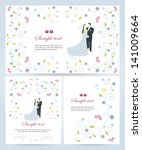 set of banners with flora... | Shutterstock .eps vector #141009664
