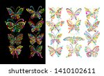 ornate butterfly collection for ... | Shutterstock .eps vector #1410102611