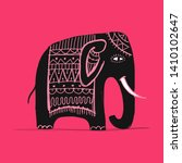 cute elephant  sketch for your... | Shutterstock .eps vector #1410102647