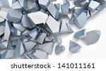 gray matte material broken into ...   Shutterstock . vector #141011161