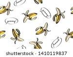 banana illustration  total... | Shutterstock .eps vector #1410119837