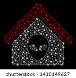 bright mesh alien home with... | Shutterstock .eps vector #1410149627