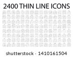 set of 2400 modern thin line...
