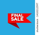 red banner final sale   label... | Shutterstock .eps vector #1410212597