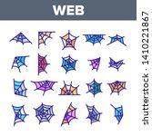 spider web  cobweb vector... | Shutterstock .eps vector #1410221867