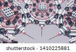 abstract futuristic three... | Shutterstock . vector #1410225881