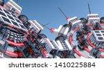 abstract futuristic three... | Shutterstock . vector #1410225884