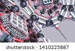 abstract futuristic three... | Shutterstock . vector #1410225887