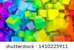 abstract rainbow background... | Shutterstock . vector #1410225911