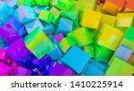 abstract rainbow background... | Shutterstock . vector #1410225914